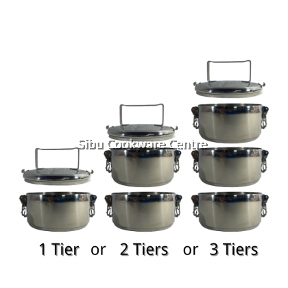 12cm X 3 Lock Food Carrier