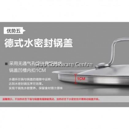 5Ply Stainless Steel Soup Pot [22cm/24cm/26cm]
