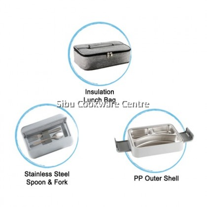 24cm Lunch Box Set With Insulated Bag